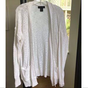 TAHARI Knit Cardigan | White